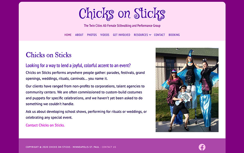 Chicks on Sticks