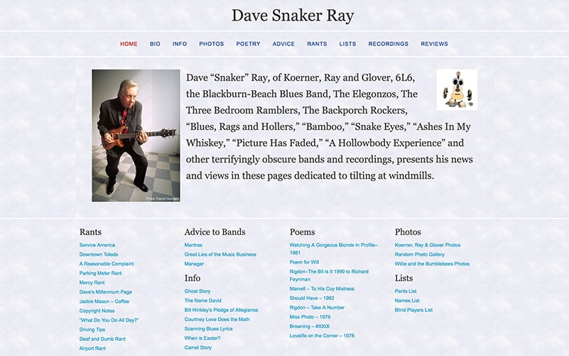 Snaker Dave Ray