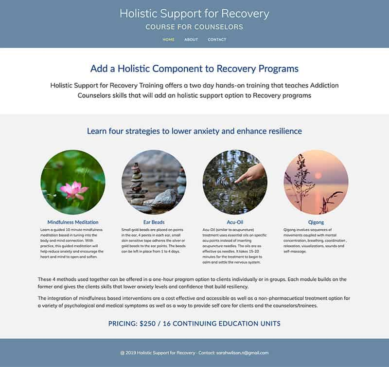 Holistic Support for Recovery