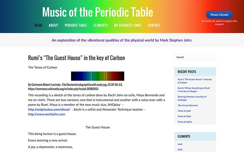 Music of the Periodic Table