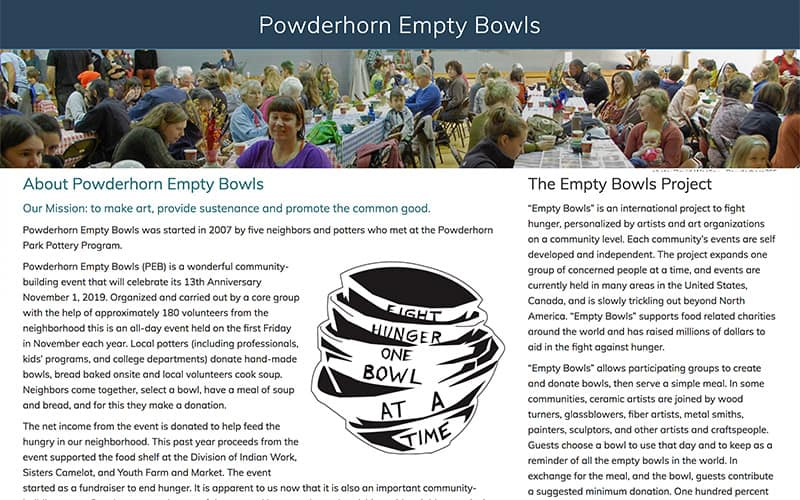 Powderhorn Empty Bowls
